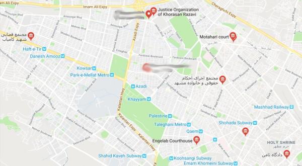 آدرس و تلفن شعب دادگاه ها و مجتمع قضایی در مشهد