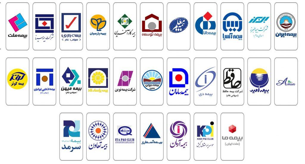 شرکت های بیمه موجود در کشور ایران