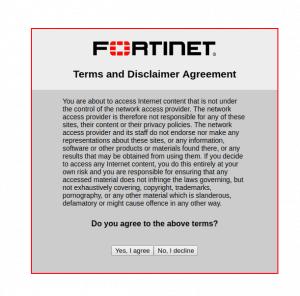 Firewall Disclaimer